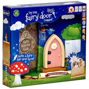 The Irish Fairy Door Company Arched Fairy Door - Pink (Slim)
