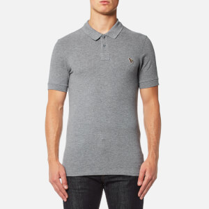 PS by Paul Smith Men's Zebra Logo Polo Shirt - Grey