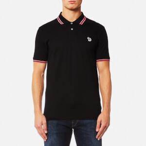 PS by Paul Smith Men's Zebra Logo Tipped Polo Shirt - Black