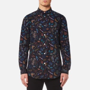 PS by Paul Smith Men's All Over Print Long Sleeve Shirt - Black