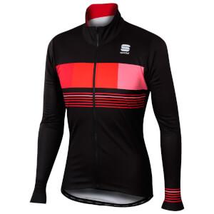 Sportful Stripe Thermal Jacket - Black/Red