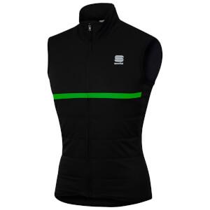 Sportful Giara Thermal Gilet - Black/Green Fluo