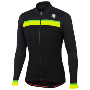 Sportful Pista Thermal Jersey - Black/Anthracite