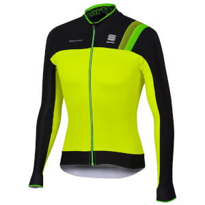 Sportful BodyFit Pro Thermal Jersey - Yellow Fluo/Black/Green Fluo