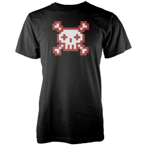 Skull and Pixel Power Men's Black T-Shirt