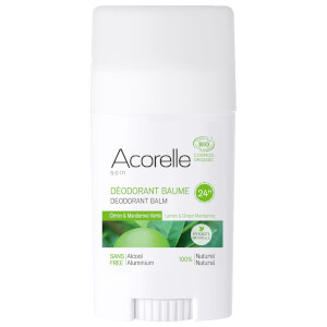 Acorelle Organic Lemon and Green Mandarine Deodorant Balm 40g