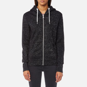 Superdry Women's Orange Label Luxe Zip Hoody - Black Sparkle