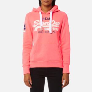 Superdry Women's Vintage Logo Hoody - Fluro Pink