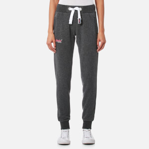 Superdry Women's Orange Label Slim Joggers - Foggy Charcoal Marl