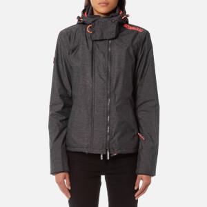 Superdry Women's Arctic Windcheater Jacket - Mid Charcoal Marl/Shock Coral