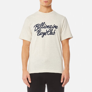 Billionaire Boys Club Men's Flock Script Logo T-Shirt - Oat