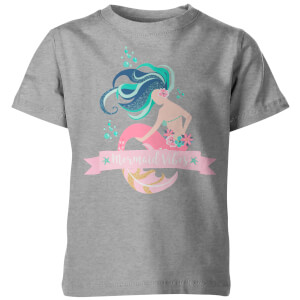 Mermaid Vibes Kid's Grey T-Shirt