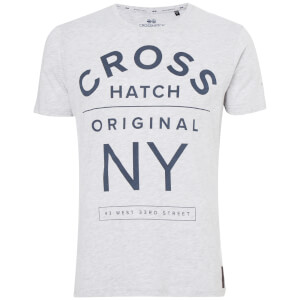 Crosshatch Men's Laramie T-Shirt - Light Grey Marl