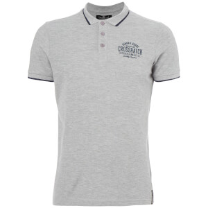 Crosshatch Men's Seton Polo Shirt - Light Grey Marl