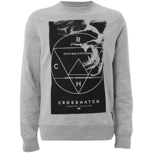 Crosshatch Men's Zerrick Sweatshirt - Light Grey Marl