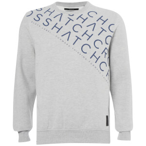Crosshatch Men's Leeroy Crew Sweatshirt - Light Grey Marl