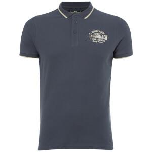 Crosshatch Men's Seton Polo Shirt - Mood Indigo Marl