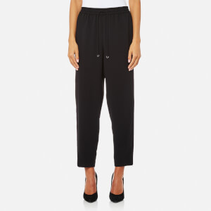 T by Alexander Wang Women's Satin Back Crepe Pull On Welded Pants - Black