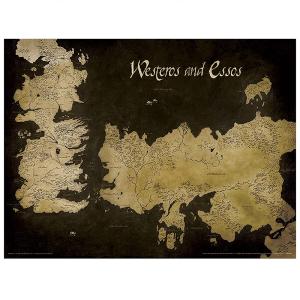 Poster Roulé Carte de Westeros - Game of Thrones