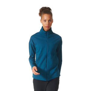 adidas Women's ZNE Light Cover Up Top - Blue