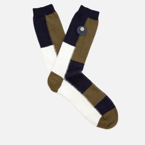 Folk Men's Combination Socks - Military Green Mix