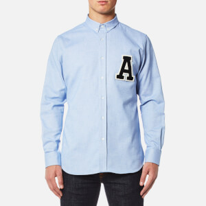 AMI Men's A' Patch Shirt - Sky Blue