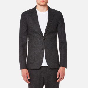 AMI Men's Two Button Half Lined Suit Jacket - Anthracite