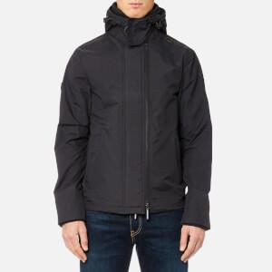 Superdry Men's Tech Hood Pop Zip Windcheater Jacket - Dark Charcoal/Dark Khaki