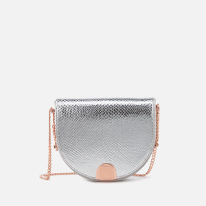 Ted Baker Women's Annii Mini Exotic Detail Moon Bag - Light Grey