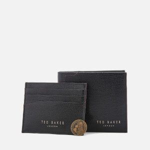 Ted Baker Men's Gekko Lizard Wallet and Cardholder Gift Set - Black