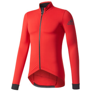 adidas Men's Climaheat Long Sleeve Winter Jersey - Red