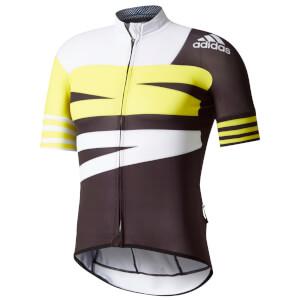 adidas Men's Adistar Jersey - Black/Yellow/White