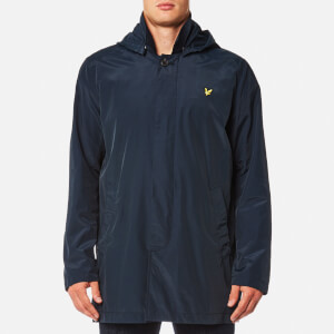 Lyle & Scott Men's Removable Hooded Mac - Navy Jacket