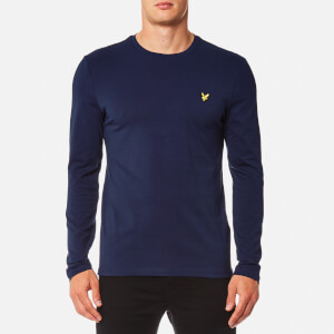 Lyle & Scott Men's Long Sleeve Crew Neck T-Shirt - Navy