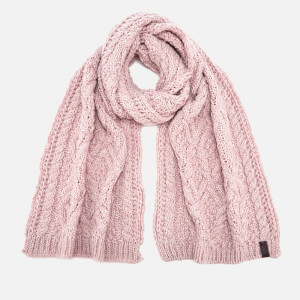 Superdry Women's Nebraska Cable Scarf - Soft Pink
