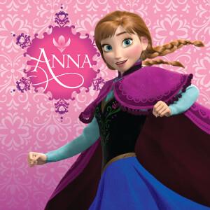 Affiche sur Toile la Reine des Neige Disney Anna - Rose 30 cm x 30 cm