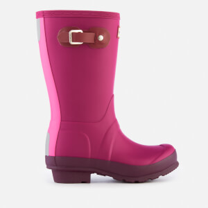 Hunter Kids' Original Contrast Wellies - Dark Ion Pink