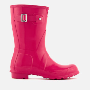 Hunter Women's Original Short Gloss Wellies - Bright Pink