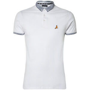 Brave Soul Men's Glover Polo Shirt - Optic White