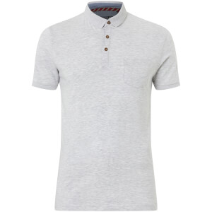 Brave Soul Men's Julius Polo Shirt - Ecru Marl