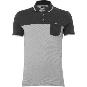 Brave Soul Men's Othello Polo Shirt - Charcoal Marl