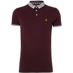 Brave Soul Men's Glover Polo Shirt - Burgundy