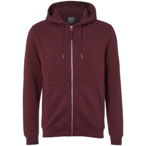 D-Struct Men's Zip Through Hoody - Burgundy