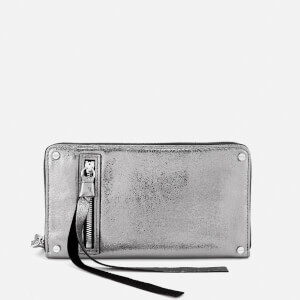 McQ Alexander McQueen Women's Metallic Wallet - Steel