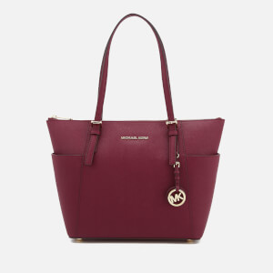 MICHAEL MICHAEL KORS Women's Jet Set East West Top Zip Tote Bag - Mulberry