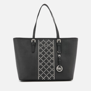 MICHAEL MICHAEL KORS Women's Jet Set Top Studs Zip Tote Bag - Black
