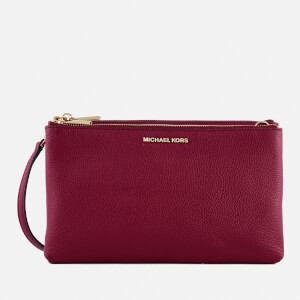 MICHAEL MICHAEL KORS Women's Double Zip Cross Body Bag - Mulberry