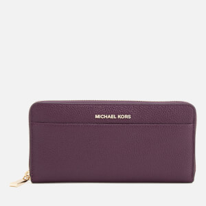 MICHAEL MICHAEL KORS Women's Pocket Zip Around Continental Wallet - Damson