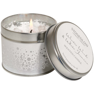 Stoneglow Winter Woods and White Jasmine Topped Candle