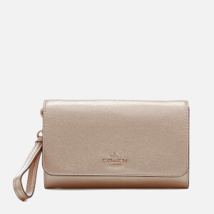 Coach Women's Phone Clutch Bag - Platinum